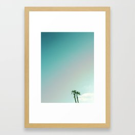 Two Palms in Venice 1 Framed Art Print