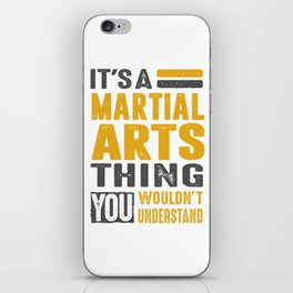 Martial Arts Thing iPhone Skin