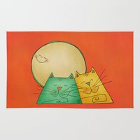 cats Area & Throw Rugs featuring Cats by Catru