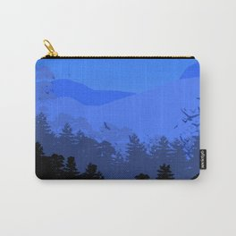 Forest Die Cut Landscape Carry-All Pouch