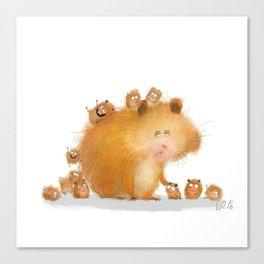 hamster family Canvas Print