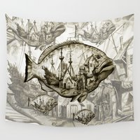 fish Wall Tapestries featuring fish by Кaterina Кalinich