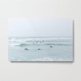 Tiny Surfers Lima, Peru Metal Print
