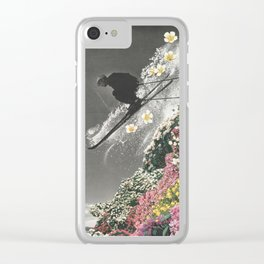 Spring Skiing Clear iPhone Case