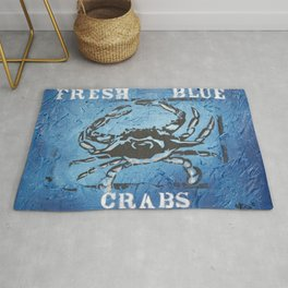 Fresh Blue Crabs Rug