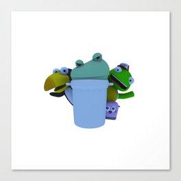 Trash Can! (W) Canvas Print