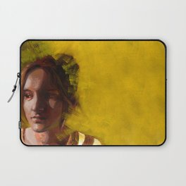 Megan, Fine Art Oil Painting Portrait Print Laptop Sleeve
