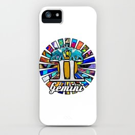 Graffiti Gemini Elephant Twins iPhone Case