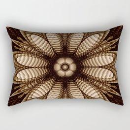 Abstract flower mandala with geometric texture Rectangular Pillow