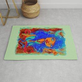 Rock Out Rhonda (Painting) Rug
