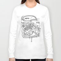 cafe racer Long Sleeve T-shirts featuring NORTON COMMANDO 961 CAFE RACER 2011 by Larsson Stevensem