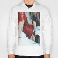 penis Hoodies featuring funny painting Transgender trannie BDSM fetish panty corset sex fuck penis cock dick woman man cute by Velveteen Rodent