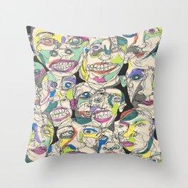 Abstract Faces  Throw Pillow