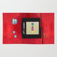 pokeball Area & Throw Rugs featuring Retro Nintendo Gameboy pokedex pokeball iPhone 4 4s 5 5c, ipod, ipad, pillow case tshirt and mugs by Three Second