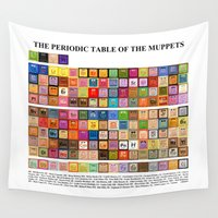 muppet Wall Tapestries featuring The Periodic Table of the Muppets by Mike Boon