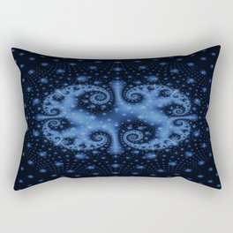 Blue swirl Rectangular Pillow