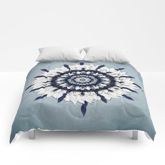 Blue Sash Mandala Comforters