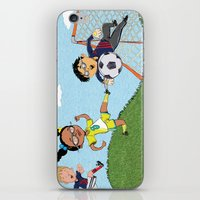 soccer iPhone & iPod Skins featuring Soccer by sheena hisiro