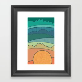 Evening Sun Framed Art Print
