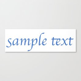 Sample Text Canvas Print