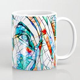 Glass stain mosaic 8 - Madonna, by Brian Vegas Coffee Mug