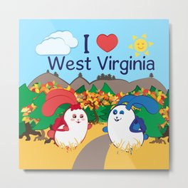 Ernest and Coraline | I love West Virginia Metal Print