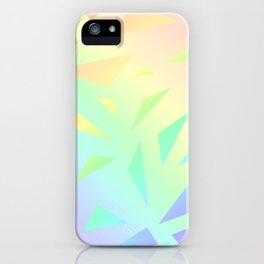 Pastel Gradient Design with Pastel Ombre Triangles! iPhone Case