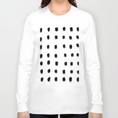 Jacques Pattern - Pure White Long Sleeve T-shirt