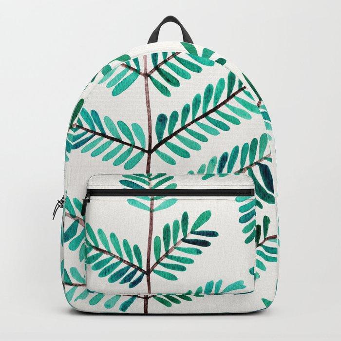 Turquoise Leaflets Backpack