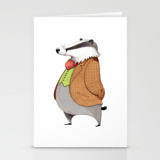 Mr. Badger Stationery Cards