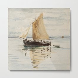 "Egon Schiele ""Segelschiff mit Spiegelungen (Sailing ship with reflection)"" Metal Print"