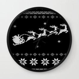 Christmas Xmas Santa Claus knitting pattern Wall Clock