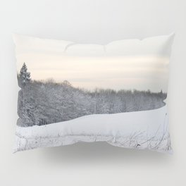 Powdered Snow Scene Pillow Sham