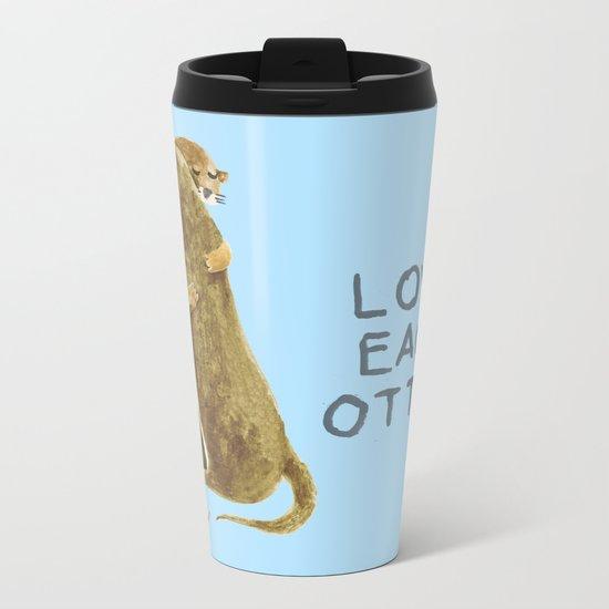 Love each otter Metal Travel Mug