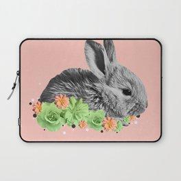 Floral Rabbit Laptop Sleeve