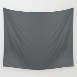 Dark Lead Gray Solid Color Pairs W/ Behr Paint's 2020 Forecast Trending Color Graphic Charcoal Wall Tapestry