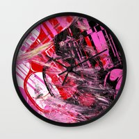 guns Wall Clocks featuring Guns Guns Guns by Botch Skateboarding