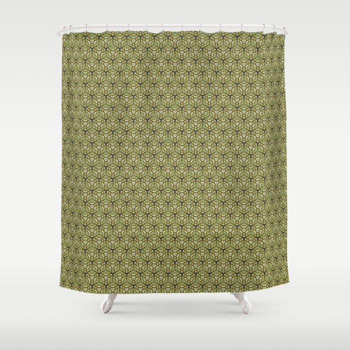 Yellow Apples Pattern Shower Curtain