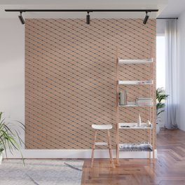 Silver Fishnets With Skin Texture Wall Mural