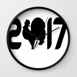 2017 T-Shirt Wall Clock