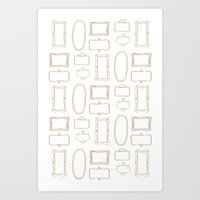 frames Art Prints featuring Frames by Sarah Liddell