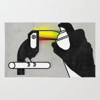 toucan Area & Throw Rugs featuring Toucan by martiszu