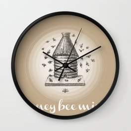 Honey Bee Mine {teddy bear brown} Wall Clock