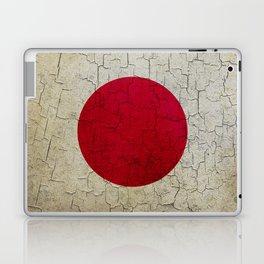 Grunge Japan flag Laptop & iPad Skin