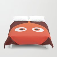 finding nemo Duvet Covers featuring PIXAR CHARACTER POSTER - Nemo - Finding Nemo by Marco Calignano