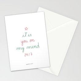 You on My Mind 24/7 Stationery Cards