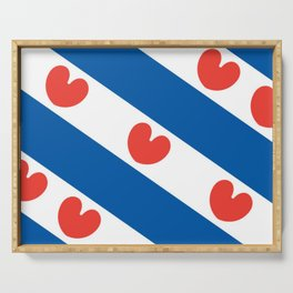 Flag of Friesland Serving Tray