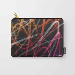 Expressive Red Orange and Magenta Lines Abstract - Handstyles Carry-All Pouch