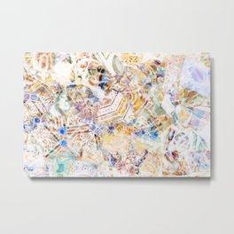 Mosaic of Barcelona XI Metal Print