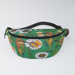 Bee eaters on a spring meadow    Fanny Pack